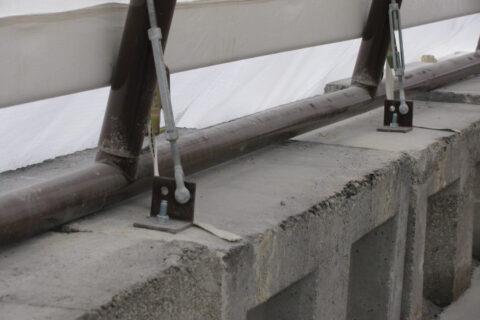 Portable FastCover on Concrete Blocks
