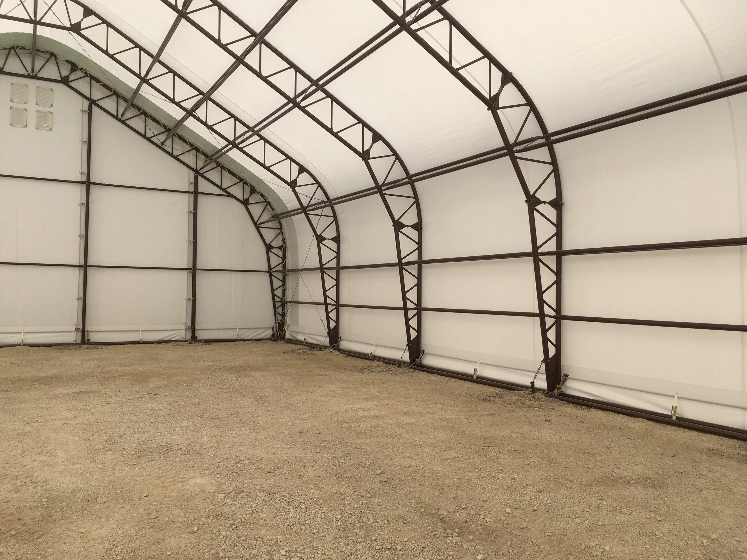 Farm Equipment Storage Building - Interior